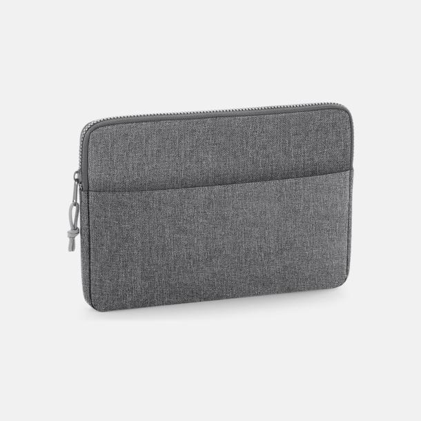 "Grey Marl (15"") 13"" eller 15"" laptop-fodral med reklamtryck"