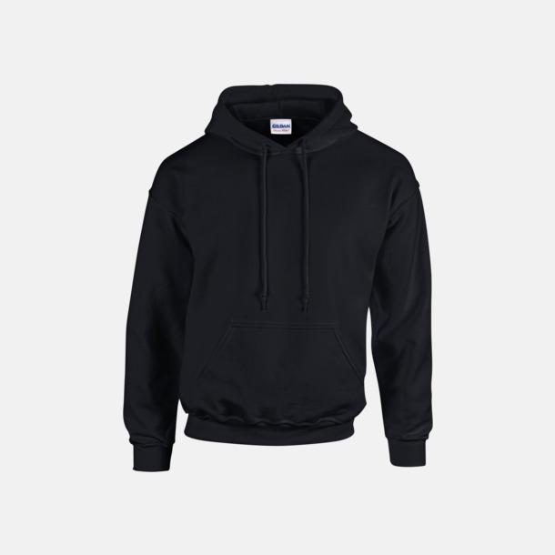 Svart (vuxen) Vuxen- & barn hoodies med reklamtryck