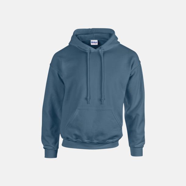 Indigo Blue (endast vuxen) Vuxen- & barn hoodies med reklamtryck
