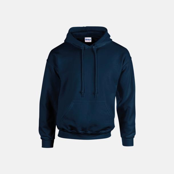 Marinblå (vuxen) Vuxen- & barn hoodies med reklamtryck