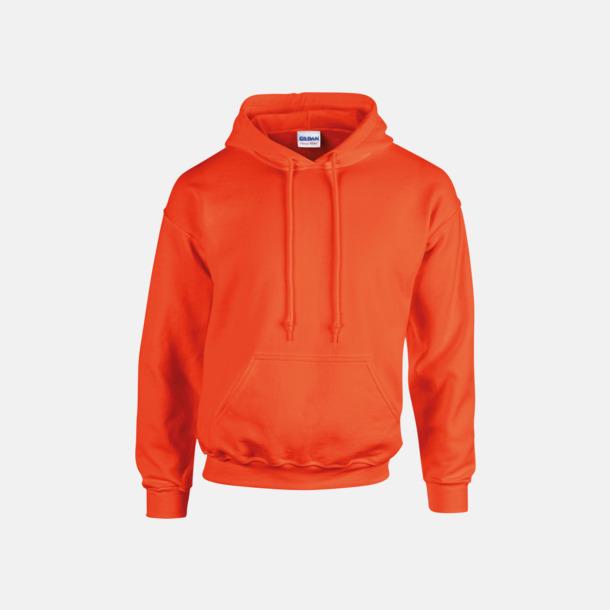 Orange (endast vuxen) Vuxen- & barn hoodies med reklamtryck
