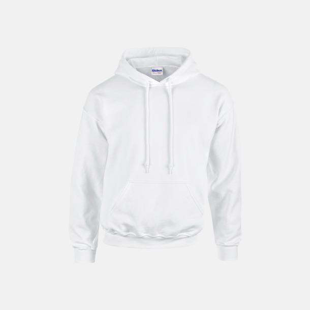 Vit (vuxen) Vuxen- & barn hoodies med reklamtryck