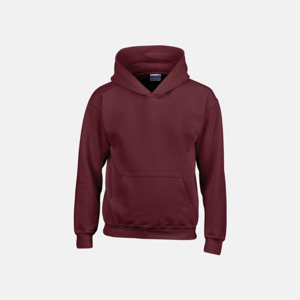 Maroon (barn) Vuxen- & barn hoodies med reklamtryck
