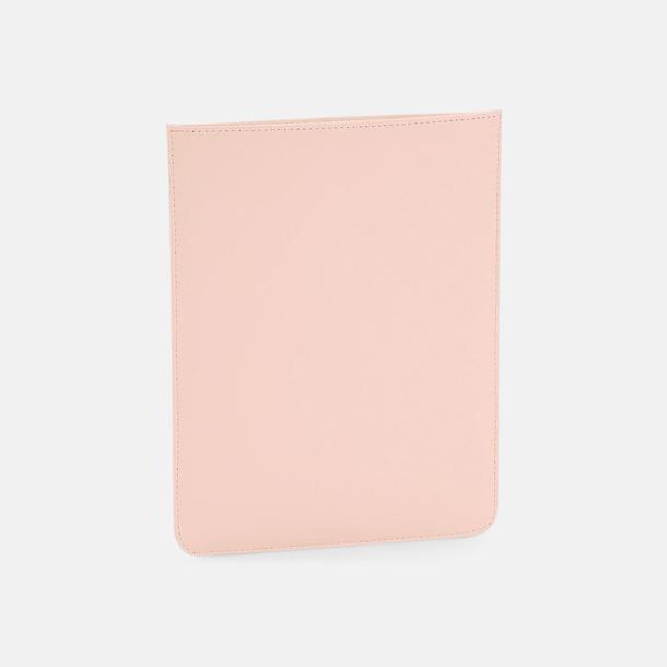 Soft Pink Tabletfodral i fuskläder med reklamlogo