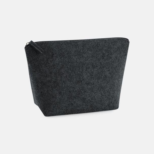 Charcoal Melange Etuier i 2 storlekar av filt - med reklamtryck