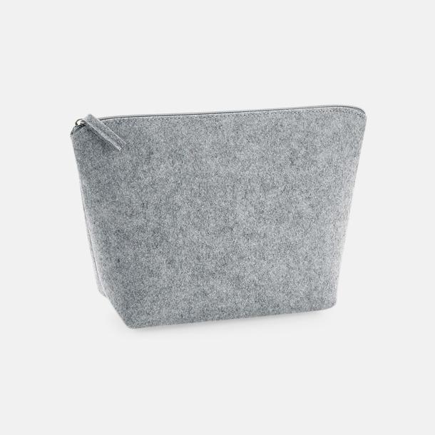 Grey Melange Etuier i 2 storlekar av filt - med reklamtryck