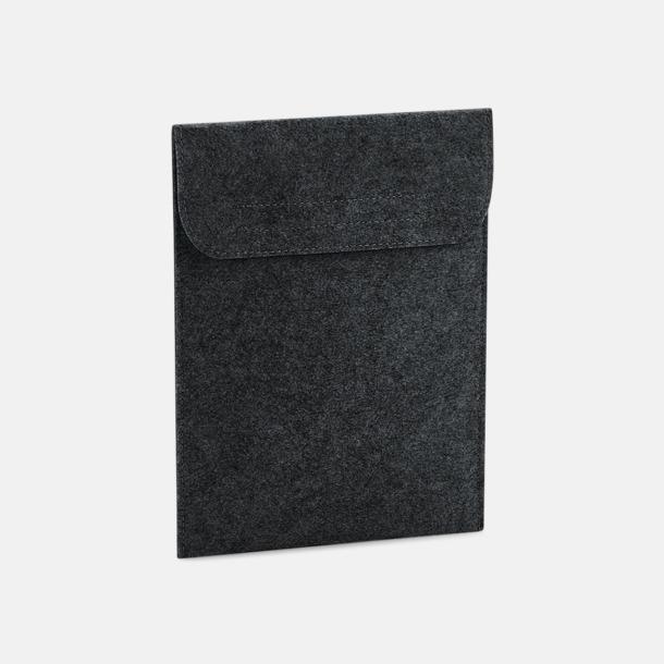 Charcoal Melange Tabletfodral i filt med reklamlogo