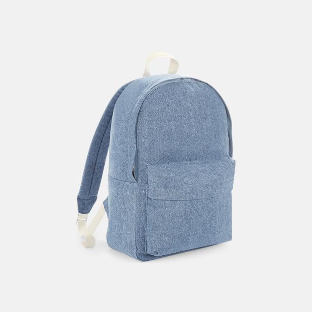 Light Denim Jeans ryggsäckar med reklamtryck