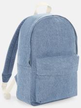 Jeans ryggsäckar med reklamtryck