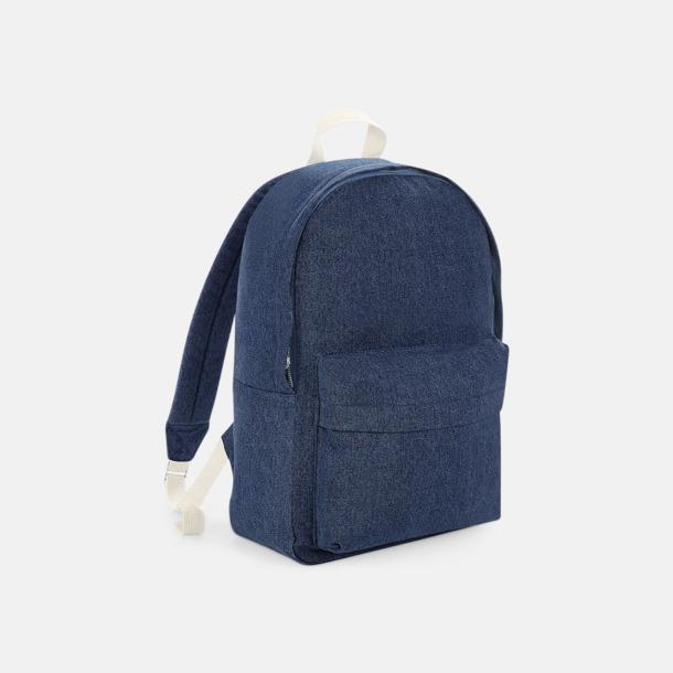 Denim Blue Jeans ryggsäckar med reklamtryck
