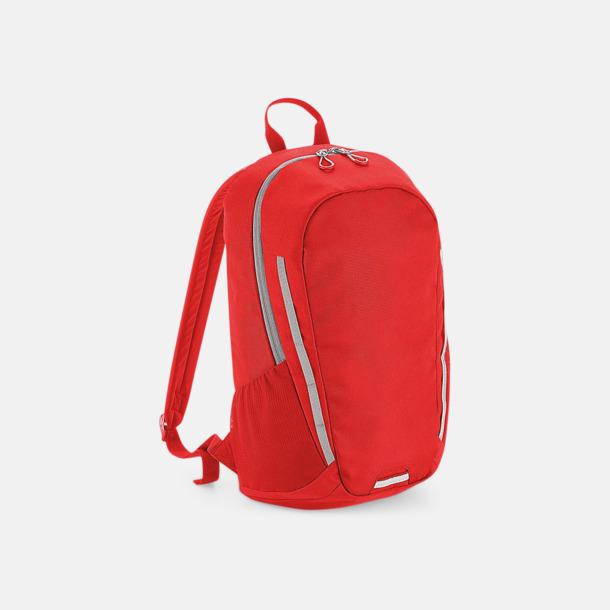 Bright Red/Ljusgrå Sportiga väskor med reklamtryck
