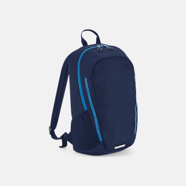 French Navy/Sapphire Blue Sportiga väskor med reklamtryck