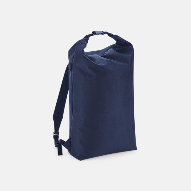 Navy Dusk Vattenavvisande roll-top ryggsäckar med reklamtryck