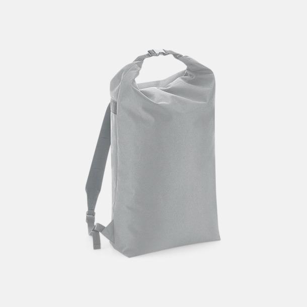 Ljusgrå Vattenavvisande roll-top ryggsäckar med reklamtryck