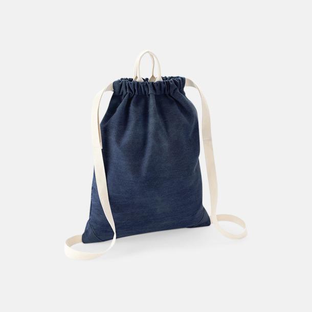 Denim Blue Coola jeans gympapåsar med reklamtryck