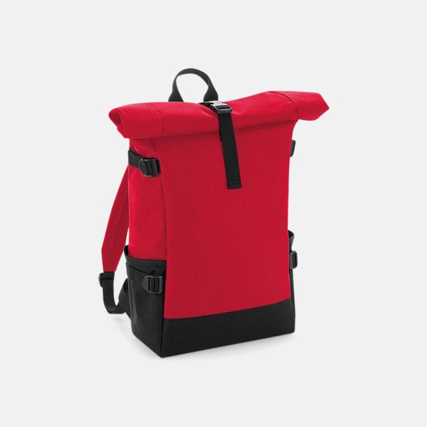 Classic Red/Svart Flerfärgade roll-top väskor med reklamtryck