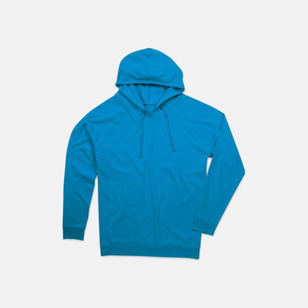 Ocean Blue Unisex hooded sweatshirts i 100 % bomull med reklamtryck
