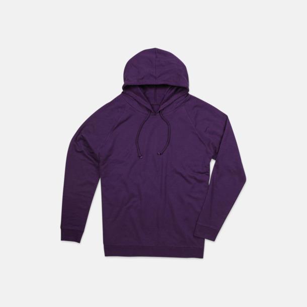 Deep Berry Unisex hooded sweatshirts i 100 % bomull med reklamtryck