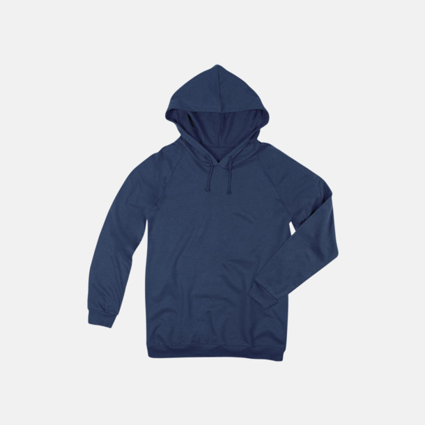 Navy Blue Unisex hooded sweatshirts i 100 % bomull med reklamtryck