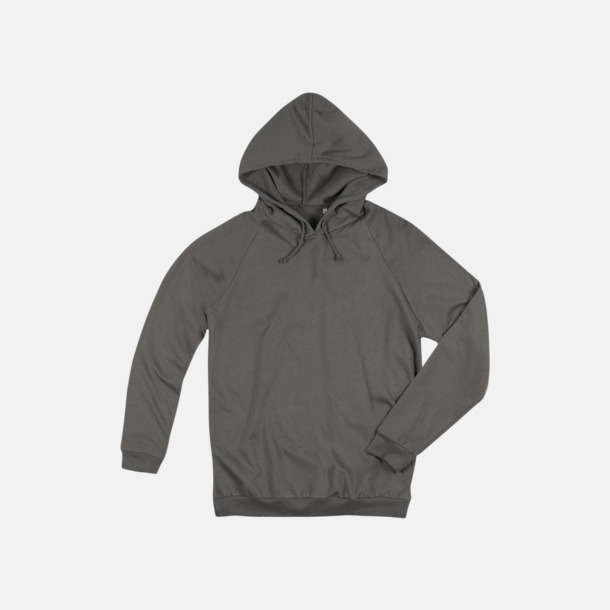 Real Grey Unisex hooded sweatshirts i 100 % bomull med reklamtryck