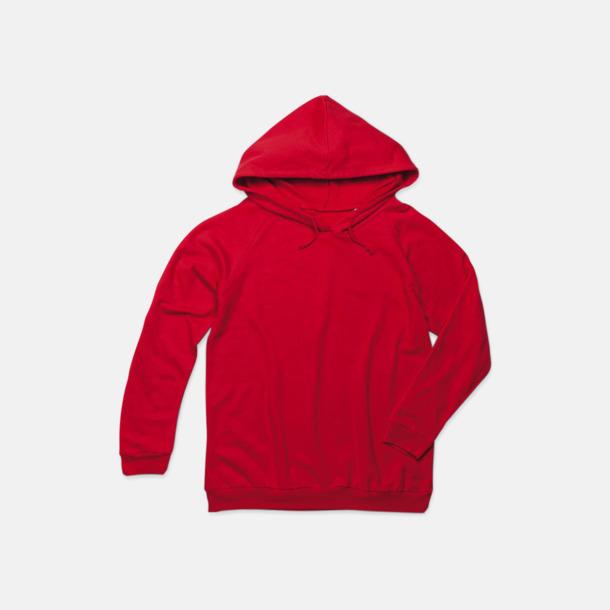 Scarlet Red Unisex hooded sweatshirts i 100 % bomull med reklamtryck