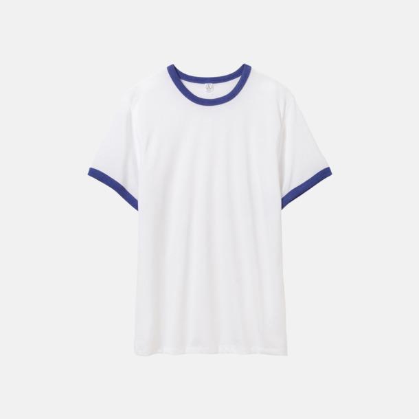 Vit/Vintage Royal Eko ringer t-shirts med reklamtryck