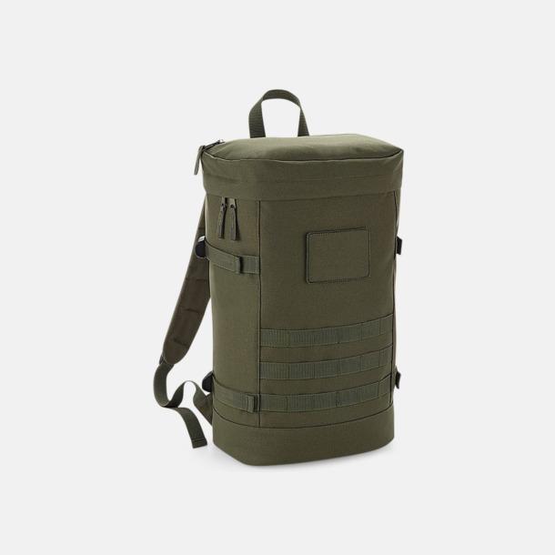 Military Green Militär ryggsäckar med reklamtryck