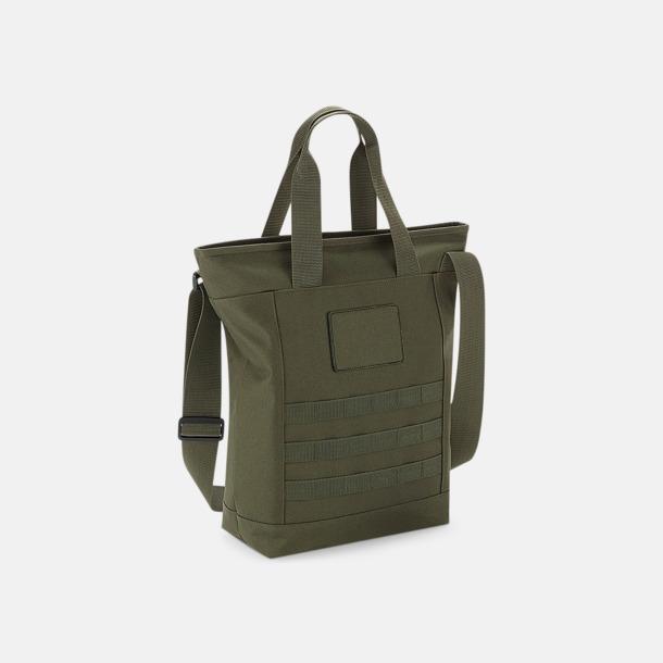 Military Green Rejäla tygväskor med reklamtryck