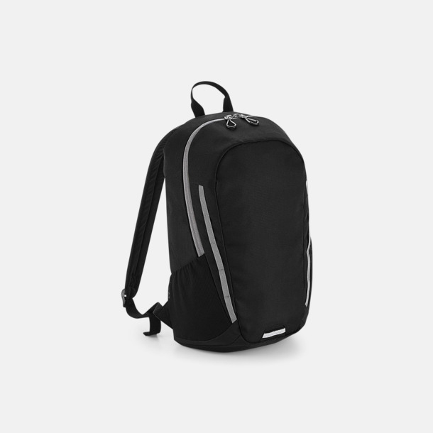 Svart/Ljusgrå Sportiga väskor med reklamtryck