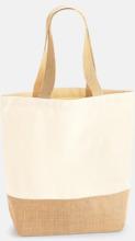 Jute & bomullspåsar i flera storlekar med reklamtryck