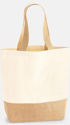 Liten Jute & bomullspåsar i flera storlekar med reklamtryck