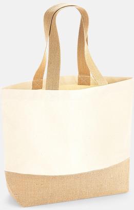 Medium Jute & bomullspåsar i flera storlekar med reklamtryck