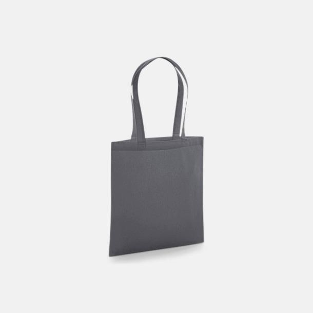 Graphite Grey Eko tygkassar i premiumbomull med reklamtryck