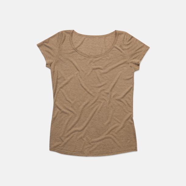 Vintage Brown Extra stora dam t-shirts med reklamtryck