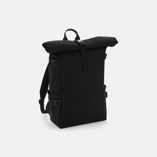 Svart Flerfärgade roll-top väskor med reklamtryck
