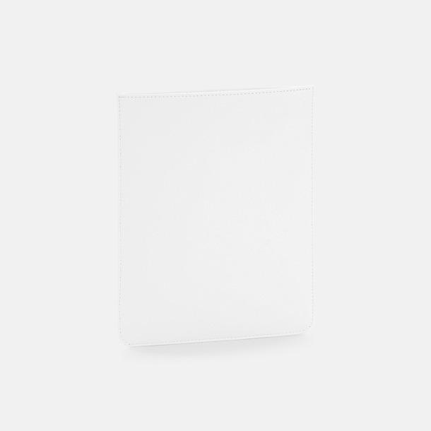 Soft White Tabletfodral i fuskläder med reklamlogo
