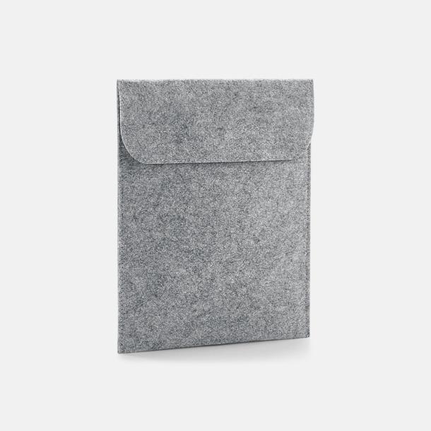 Grey Melange Tabletfodral i filt med reklamlogo
