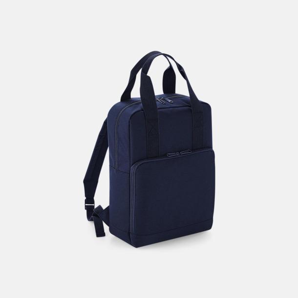 Navy Dusk Trendig ryggsäck med dubbla bärhandtag - med reklamtryck