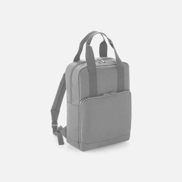 Ljusgrå Trendig ryggsäck med dubbla bärhandtag - med reklamtryck