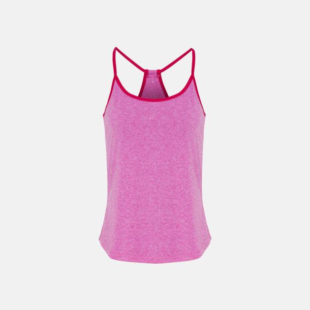 Pink Melange/Hot Pink Moderna träningslinnen med reklamtryck