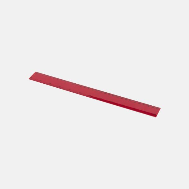 Röd Billiga plastlinjaler på 30 cm med reklamtryck