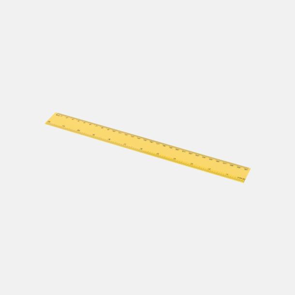 Gul Billiga plastlinjaler på 30 cm med reklamtryck