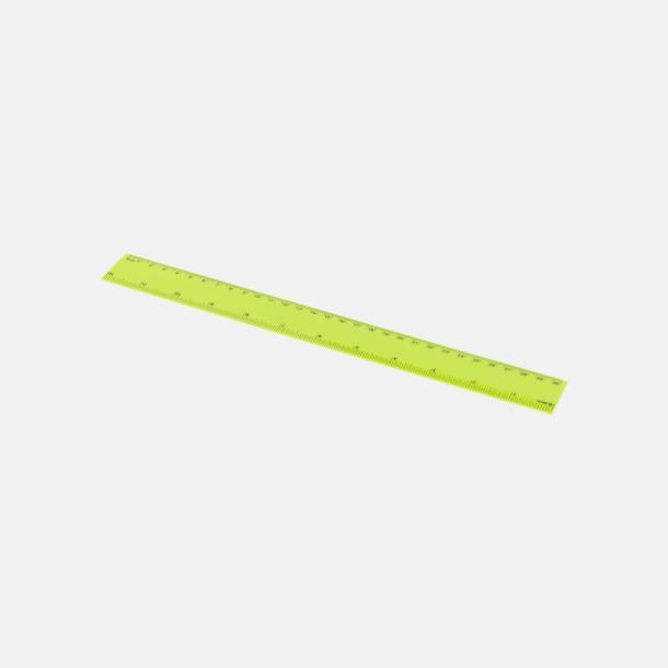 Limegrön Billiga plastlinjaler på 30 cm med reklamtryck