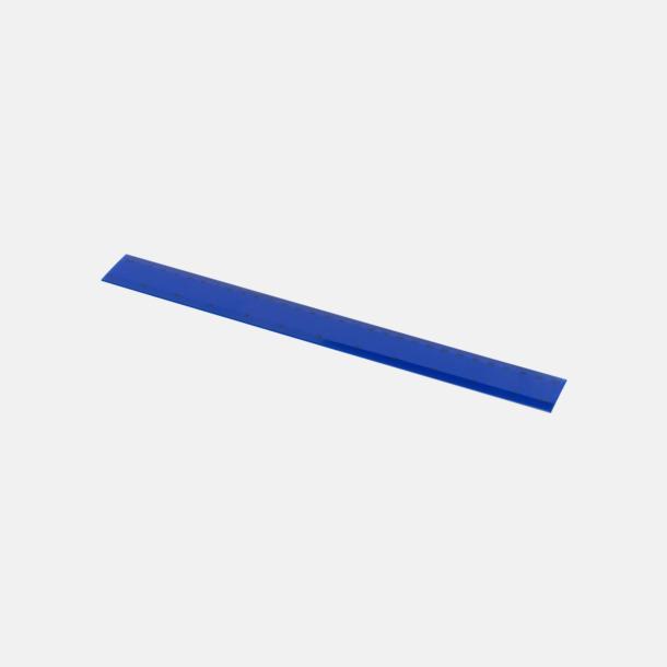 Blå Billiga plastlinjaler på 30 cm med reklamtryck