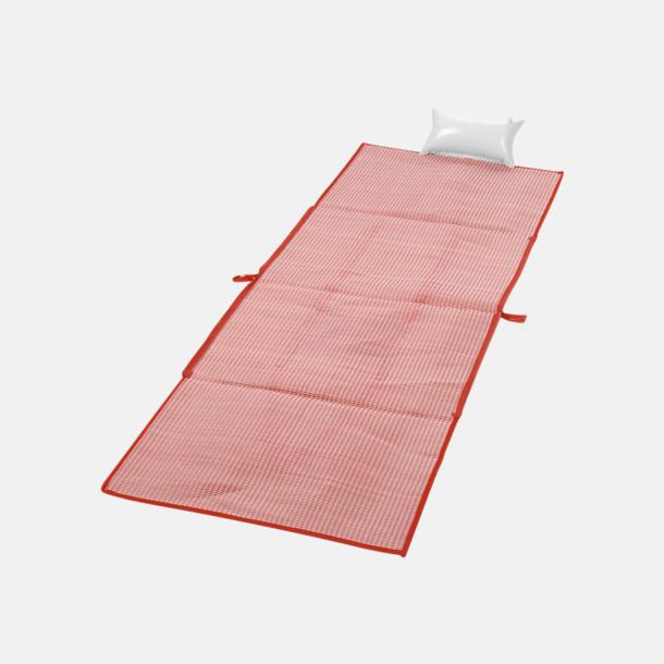 Röd Kasse och stradmatta med kudde - med reklamtryck