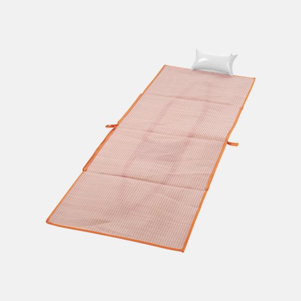 Orange Kasse och stradmatta med kudde - med reklamtryck