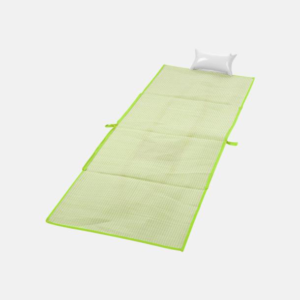 Limegrön Kasse och stradmatta med kudde - med reklamtryck