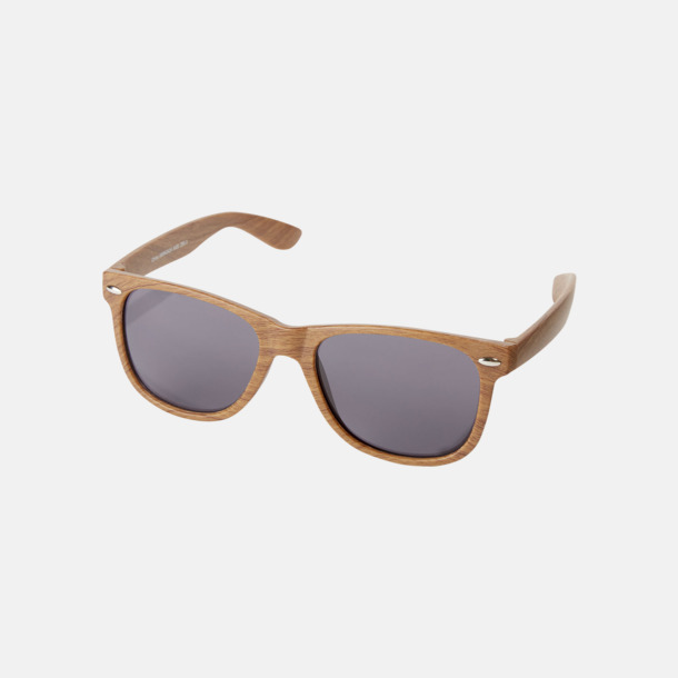Brun Plastsolglasögon med träliknande finish - med reklamtryck