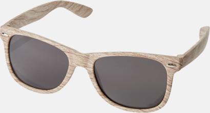 Natur Plastsolglasögon med träliknande finish - med reklamtryck
