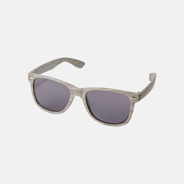 Grå Plastsolglasögon med träliknande finish - med reklamtryck